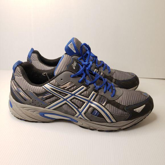 Asics Shoes   Mens Blue Black Running